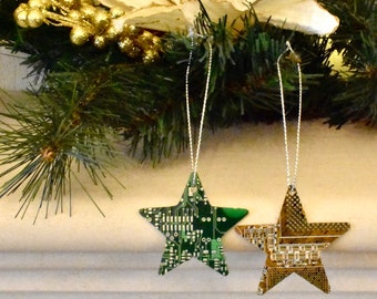 Circuit Board Christmas Star Decoration Ornament - Computer Gifts - Eco Gifts - Geeky Xmas Gifts - Programmer Gift- Secret Santa