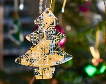 Circuit Board Christmas Tree Decoration Ornament  - Computer Gifts - Eco Gifts - Geeky Xmas Gifts - Programmer Gift- Secret Santa