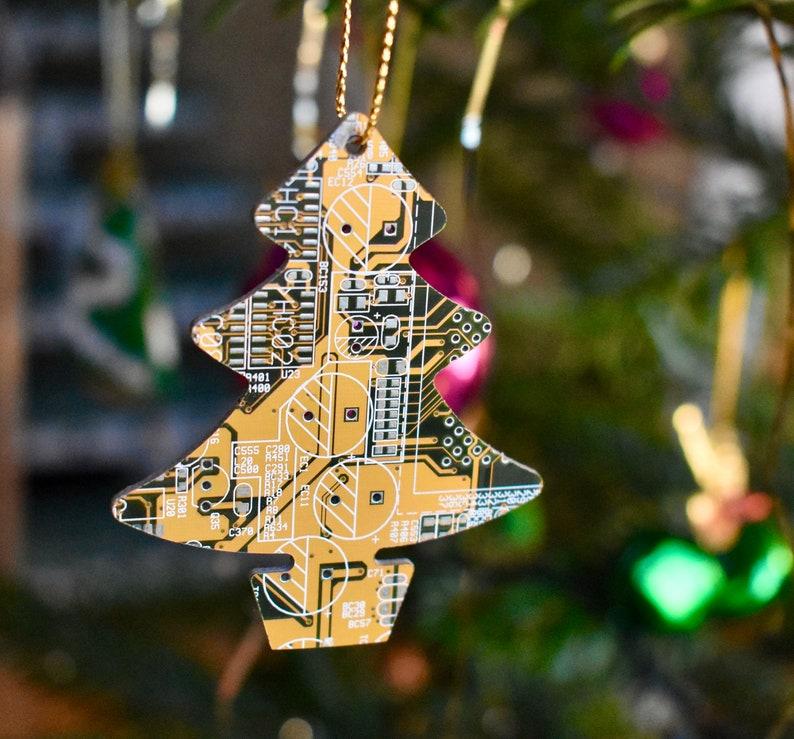 Circuit Board Christmas Tree Decoration Ornament   Computer image 1