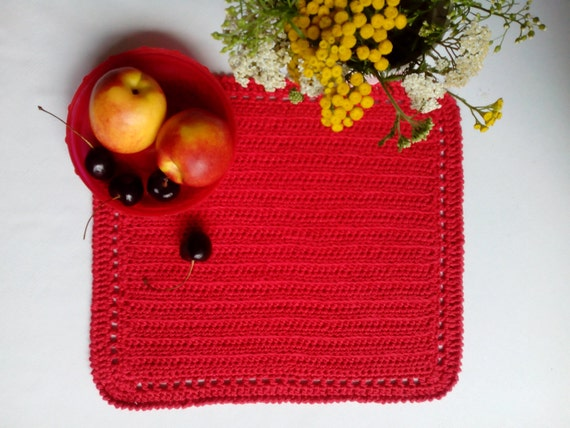 Crochet Placemat Pattern Easy Tutorial For Absolute Begginer Etsy