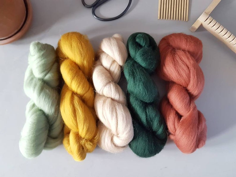 ecologically produced in Europe 100/% wool Merino wool roving Fiber Pack nature palette