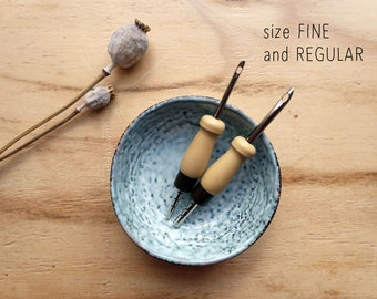 FINE and REGULAR Punch needle set - Lavor punch needles - different sizes - medium weight up to chunky yarn - both adjustable