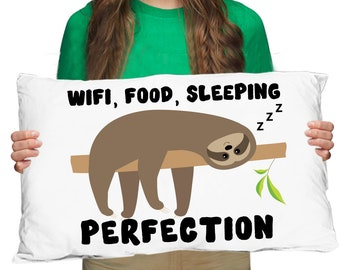 7c85f512f5b Sloth Pillow Case Sloths Funny Gifts Cute Sloth Life Sloth Decor Animal  Lover Pillow For Her For Him Friend Birthday Christmas Son Daughter