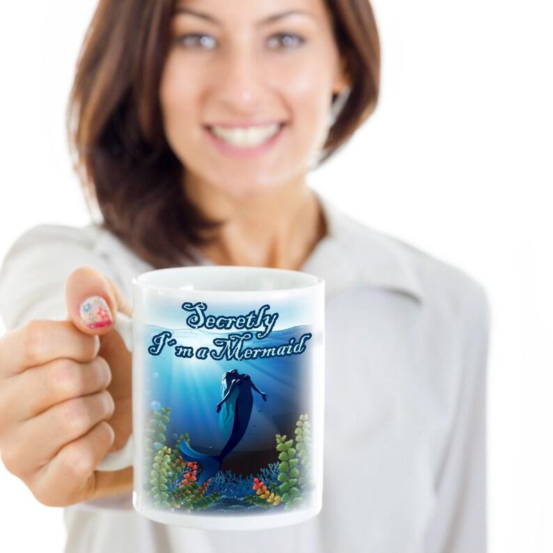 mignon Funny Mermaid Tasse à Café Anniversaire Sirène amant tasse lui Cadeau Pour Elle