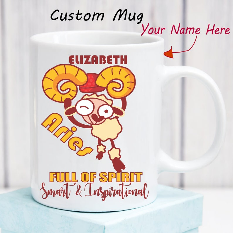 Aries Mug Zodiac Mug Personalized Astrology Gifts Horoscope Custom Name  Birthday Month Zodiac Sign Astrological Aries Gifts for Her for Him