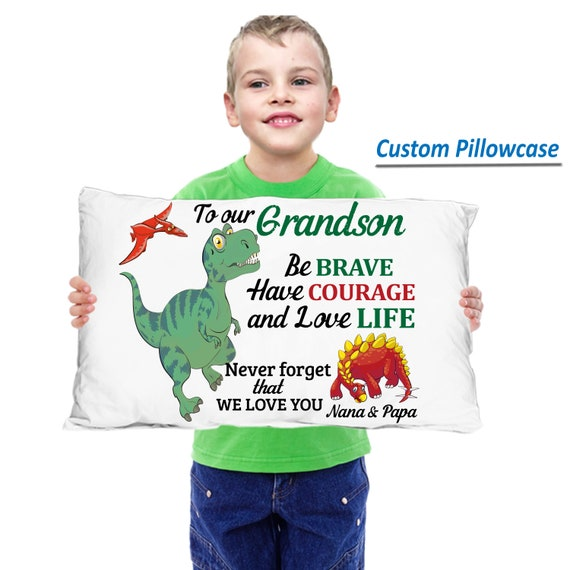 Dinosaur pillowcase | Etsy