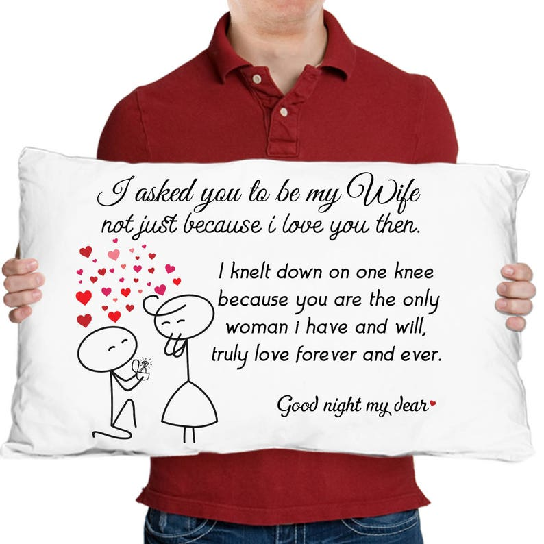 Wife Gift Pillowcase Couples Gifts Wedding Anniversary To My