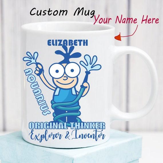 Aquarius Mug Zodiac Mug Personalized Astrology Gifts Horoscope Custom Name  Birthday Month Zodiac Sign Astrological Gifts for Her for Him