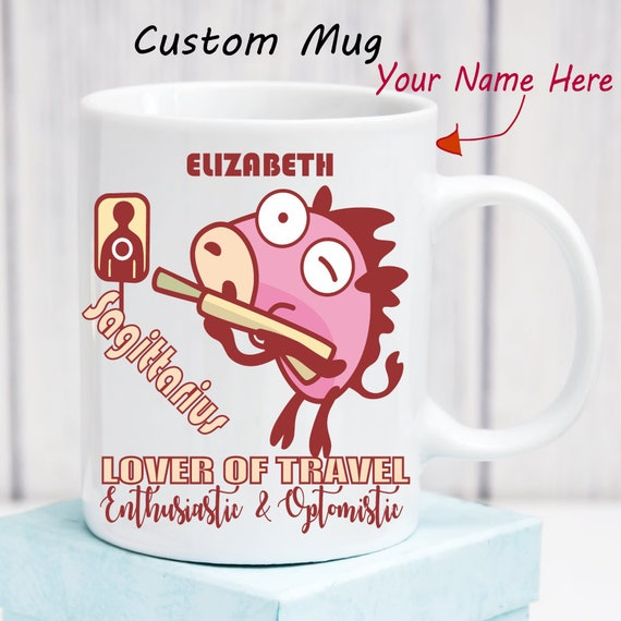 Sagittarius Zodiac Mug Personalized Astrology Gifts Horoscope Custom Name  Birthday Month Zodiac Sign Astrological Gifts for Her Him Friend
