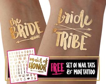 Bachelorette Party Flash Tattoos   Bridesmaid Gift   Bride Tribe Favor   Bachelorette Tattoos   Bridal Shower   Engagement Decoration