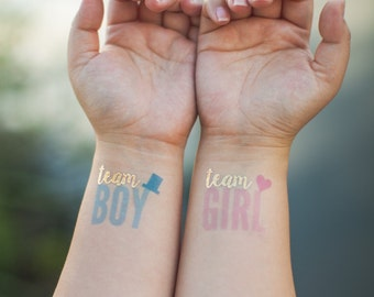 Tattoos for your baby reveal / Baby reveal ideas / Baby reveal party tattoo / Gender reveal party / Gender reveal ideas