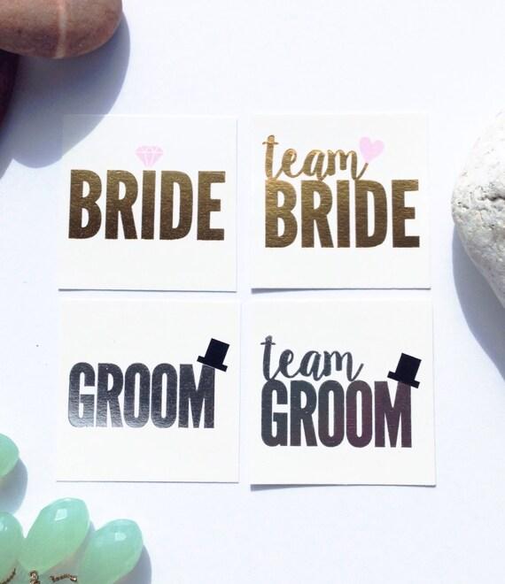 16 Team Bride Team Groom Tats Stag And Doe Jack And Jill Etsy