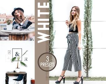 3 WHITE Presets - Mobile Lightroom preset, photo preset, instagram preset, blogger preset, indoor presets, influencer, photo editing light