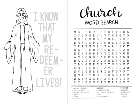 LDS Activity and Coloring Book! 20 pages of fun!