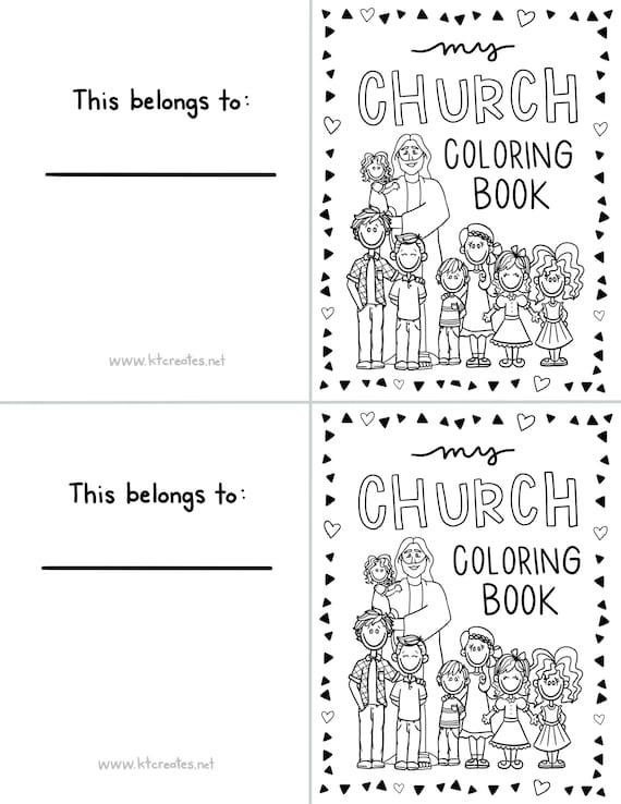 Mini LDS Coloring Book (quarter page size)- 20 pages!