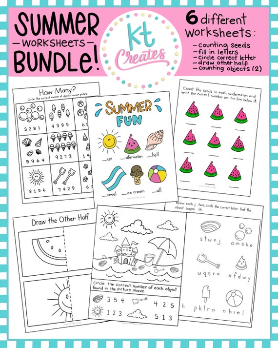 Summer Fun Bundle-Activities And Worksheets