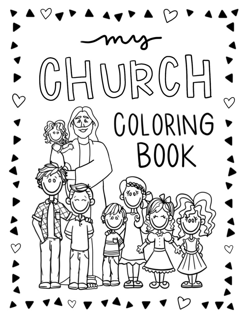8.5x11 LDS Church Coloring Book- 20 pages!