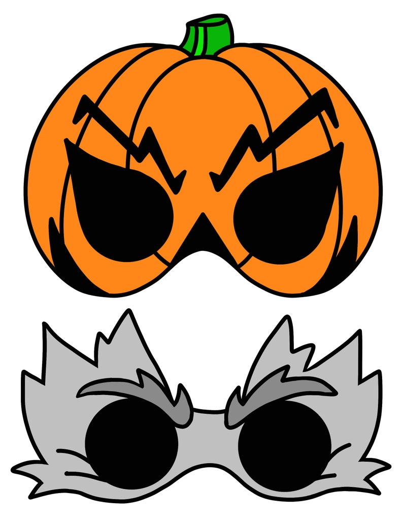 Set of 4 Halloween Masks