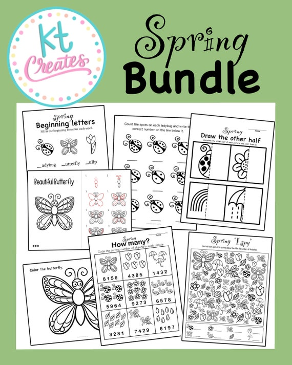 Spring Bundle-Activities/worksheets-7 pages