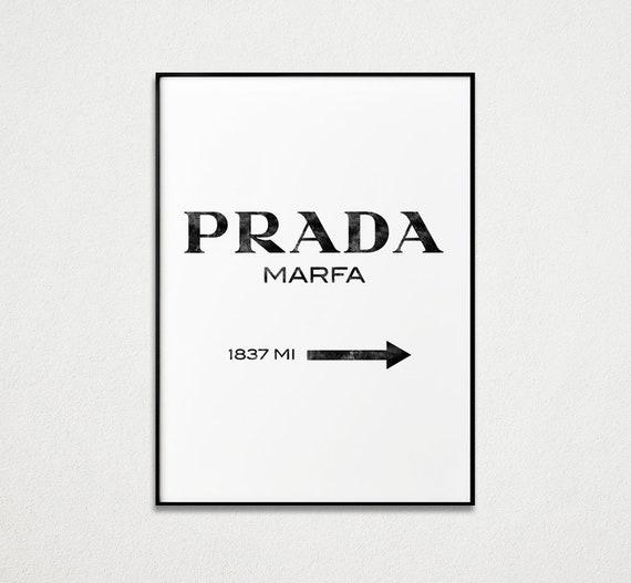 Prada Marfa Wall Art Fashion Print Fashion Wall Decor Prada | Etsy