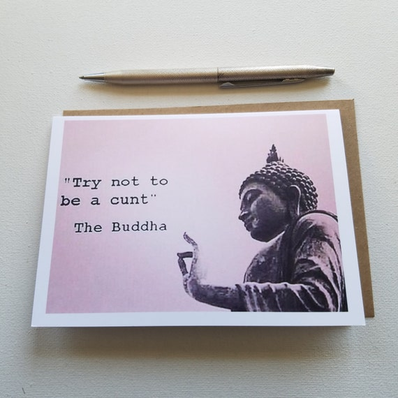 Hate mail the buddha says anti greeting card cards for etsy image 0 m4hsunfo