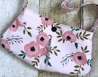 Toddler Purse - Little Girl Purse - Little Girl Tote - Little Girl Handbag - Little Girl's Dress Up - Floral Purse - Personalization