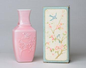Avon «Printemps dynastie» Rose rose parfumé Vase - 1982