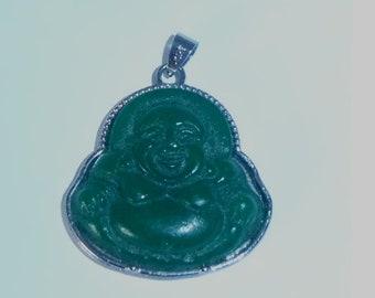 Peking Glass Buddha Pendant