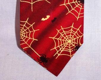 Halloween Themed Spider Web Necktie