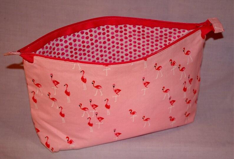 Flamingo Themed Zippered Bag