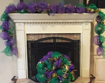 Mardi Gras garland (garland only- wreath sold seperate)