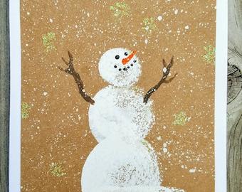 Winter birthday card etsy rustic snowman winter greeting card 5 pack blank greeting card winter snowman m4hsunfo