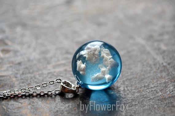Blue Dream Sky Pendant Material Jewelry Pendants Dangle Charms DIY Earrings