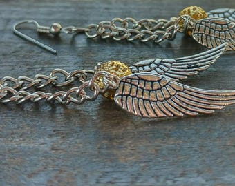 Golden Quidditch Earrings