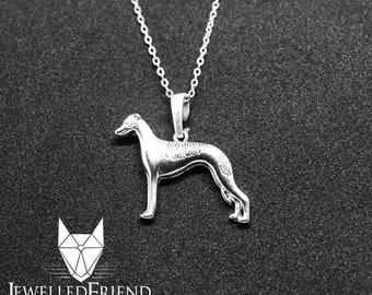 Greyhound head in heart jewelry jewelry pendant-Sterling Silver-Personalized Pet Necklace-Dog lover gift