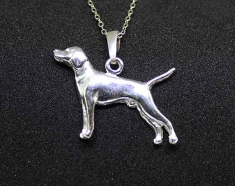 Hungarian vizsla jewelry pendant-Sterling Silver-Personalized Pet Necklace-Dog lover gift-Pet Memorial