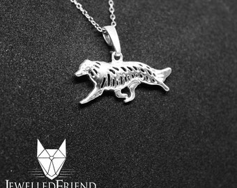 Border Collie jewelry pendant -Sterling Silver-Personalized Pet Necklace-Dog lover gift-Custom Dog Necklace-Pet Memorial Gift-Dog Mom Gift