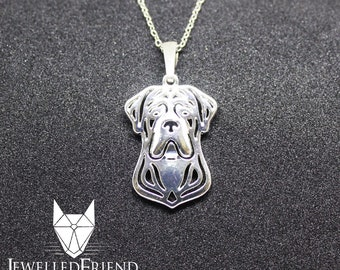 Cane corso jewelry pendant-Sterling Silver-Personalized Pet Necklace-Dog lover gift-Custom Dog Necklace-Pet Memorial Gift-Dog Mom Gift