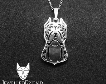 American staffordshire terrier jewelry pendant - sterling silver - Custom Dog Necklace - Pet Memorial Gift - Dog Mom Gift - Pet jewellery