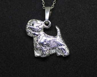 Westie jewelry pendant-Sterling Silver-Personalized Pet Necklace-Dog lover gift-Pet Memorial