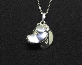Dogo argentino jewelry necklace pendant -Sterling Silver-Personalized Pet Necklace-Dog lover gift-Pet Memorial