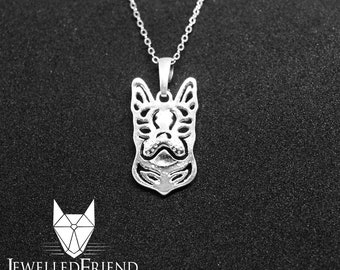 Boston terrier jewelry pendant-Sterling Silver-Personalized Pet Necklace-Dog lover gift-Custom Dog Necklace-Pet Memorial Gift-Dog Mom Gift