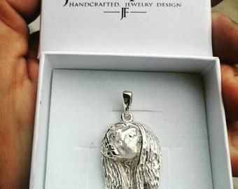 Afghan hound jewelry pendant-sterling silver-Custom Dog Necklace-Pet Memorial Gift-Dog Mom Gift-Pet