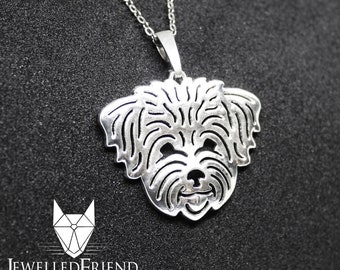 Bichon Havanese jewelry pendant -Sterling Silver-Personalized Pet Necklace-Dog lover gift-Custom Dog Necklace-Pet Memorial Gift-Dog Mom Gift