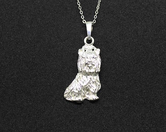 Yorkie jewelry pendant-Sterling Silver-Personalized Pet Necklace-Dog lover gift-Pet Memorial