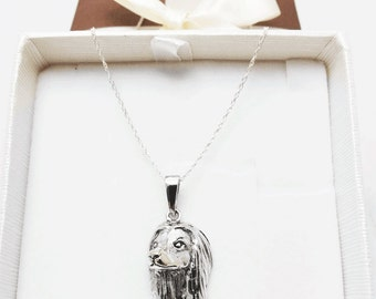 Afghan hound jewelry pendant-sterling silver-Custom Dog Necklace - Pet Memorial Gift - Dog Mom Gift