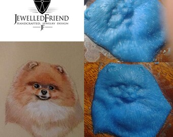 You would like to own a piece of jewelry about your doggie? Buy the wax modeling of your own doggie !