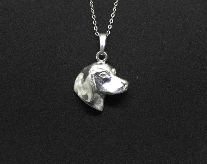 Featured listing image: Beagle dog jewelry pendant -Sterling Silver-Personalized Pet Necklace-Dog lover gift-Custom Dog Necklace-Pet Memorial Gift-Dog Mom Gift–Pet
