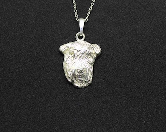Airedale terrier jewelry pendant-sterling silver-Custom Dog Necklace - Pet Memorial Gift - Dog Mom Gift - Pet jewellery