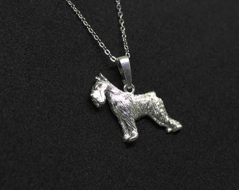 Schnauzer jewelry pendant-Sterling Silver-Personalized Pet Necklace-Dog lover gift-Pet Memorial